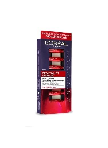 L'Oréal Paris L'Oréal Paris Revitalift Lazer X3 7 Günlük Kür Peeling Etkili Ampul Renksiz